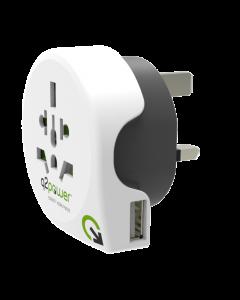 Q2Power World to United Kingdom USB