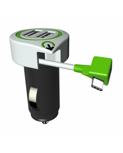 Q2Power Triple USB Car Charger USB-C