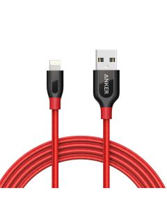 Anker PowerLine+ Lightning MFI (6ft/1.8m), Red with Pouch