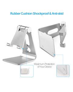 Choetech Mobil- og Tabletholder med justerbar vinkel, Sølv