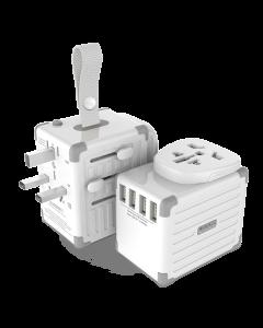 Zikko Worldwide TravelSmart Adapter 4 USB Port, Hvid