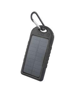 Forever 5000 mAh Solar Powerbank, Sort