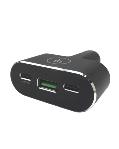 LIFEPowr 96W USB-C PD & QC 3.0 USB-A car charger, Black