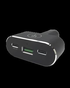 LIFEPowr 96W USB-C PD & QC 3.0 USB-A car charger, Black