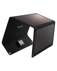 RAVPower 2-port 21W Solar Panel, Black