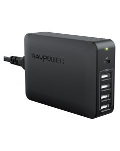 RAVPower 5-port 60W USB-C PD USB Hub, Black