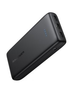 Refurb- RAVPower Ace Series 32000 mAh powerbank, 3 x USB-A output, Black