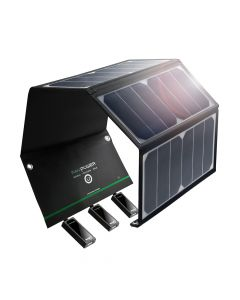 RAVPower Solar Charger, 24W Solar Panel, Sort