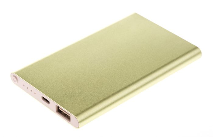 GreyLime Power Slim, 4000 mAh powerbank, Guld