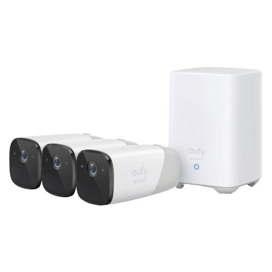 Eufy EufyCam2 Pro 3-Cam kit overvågningssystem, Hvid