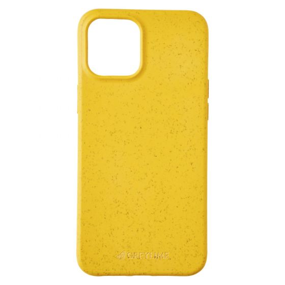 GreyLime iPhone 12 Pro Max Biodegradable Cover, Yellow